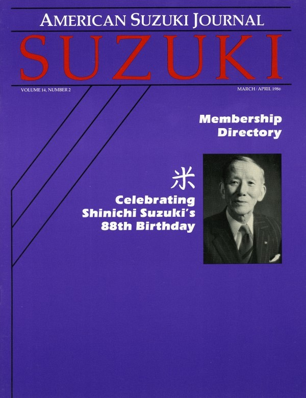 American Suzuki Journal volume 14.2.