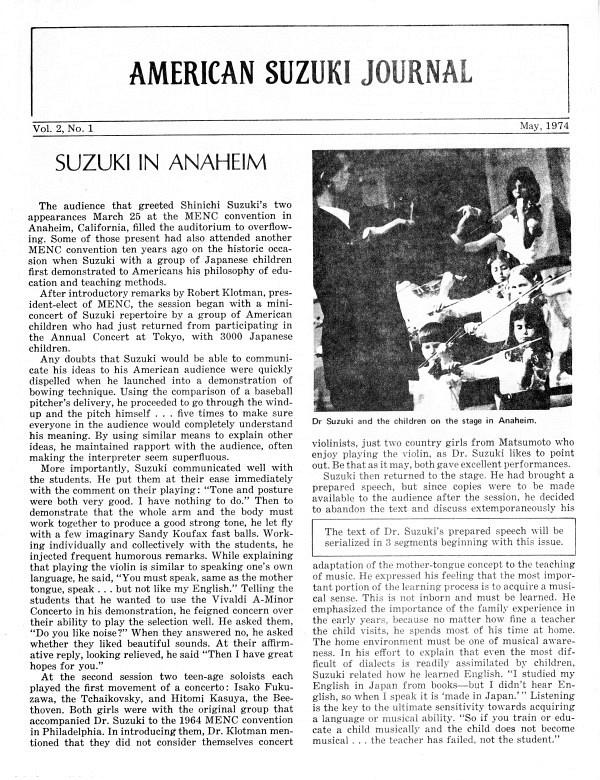 American Suzuki Journal volume 2.1