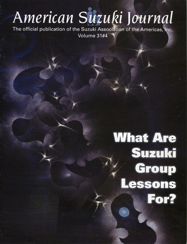 American Suzuki Journal volume 31.4