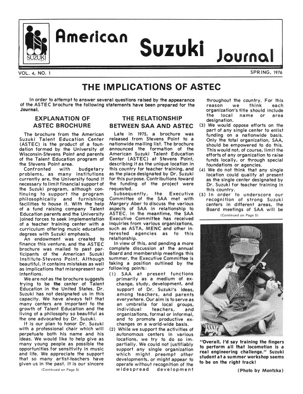 American Suzuki Journal volume 4.1