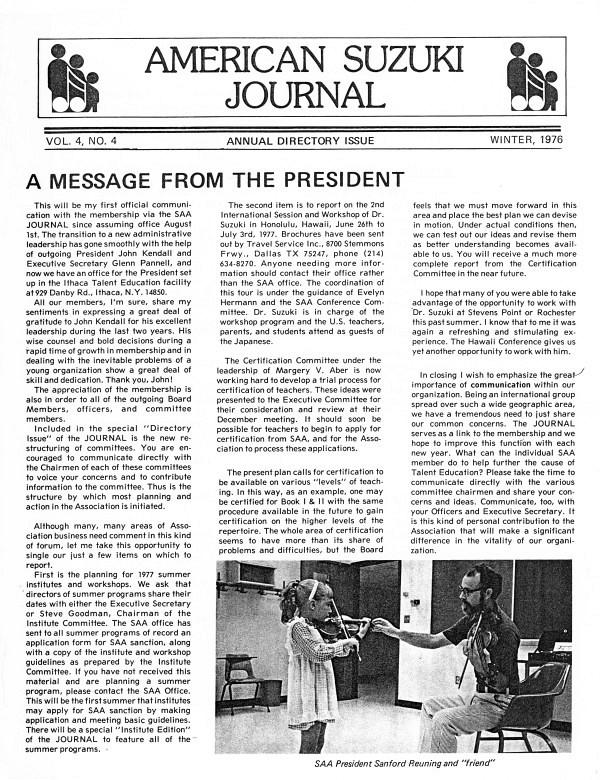 American Suzuki Journal volume 4.4