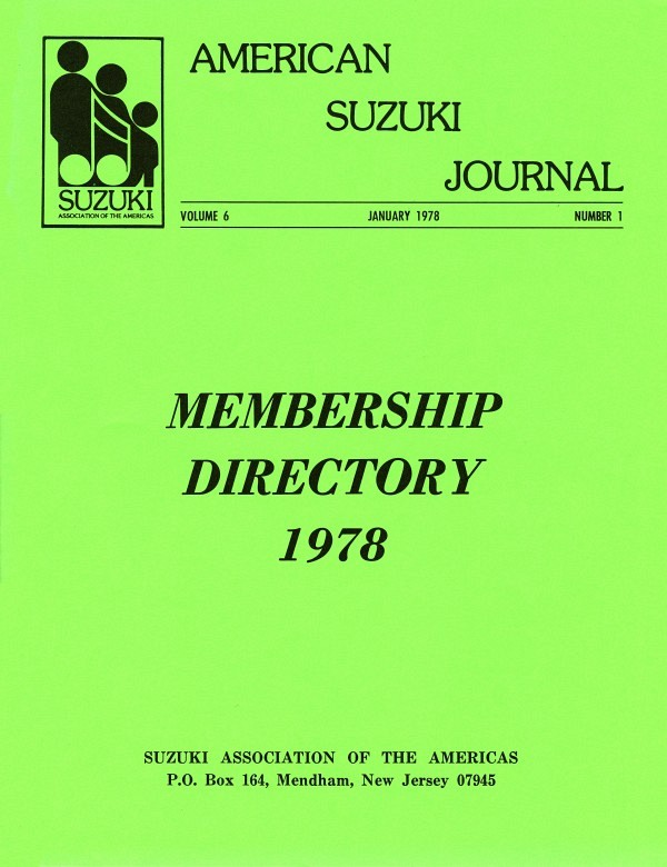 American Suzuki Journal volume 6.1.