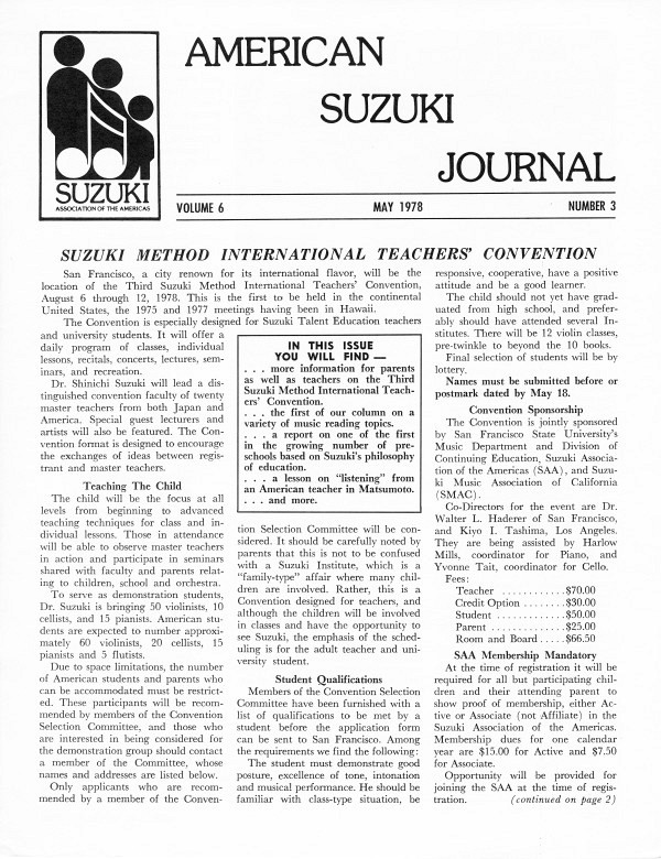 American Suzuki Journal volume 6.3