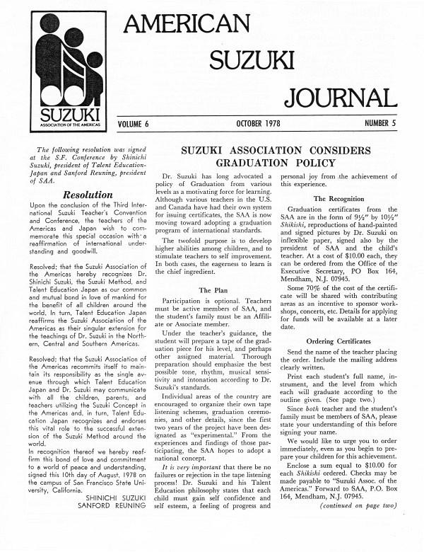 American Suzuki Journal volume 6.5