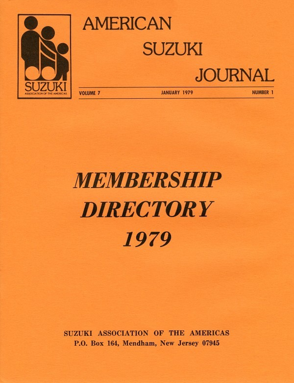 American Suzuki Journal volume 7.1.