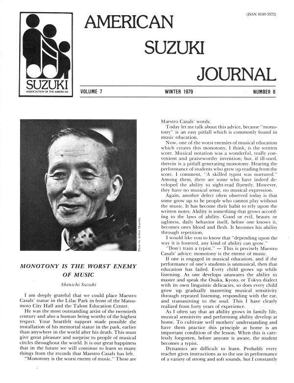 American Suzuki Journal volume 7.6