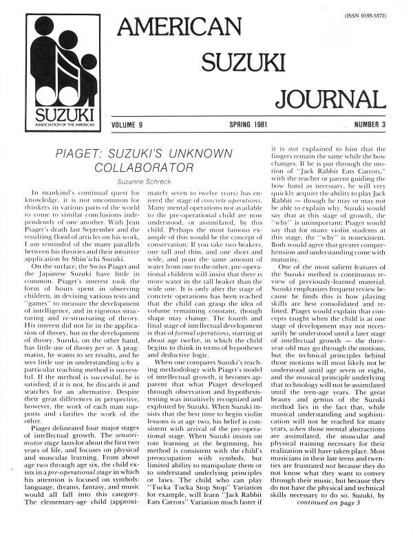 American Suzuki Journal volume 9.3
