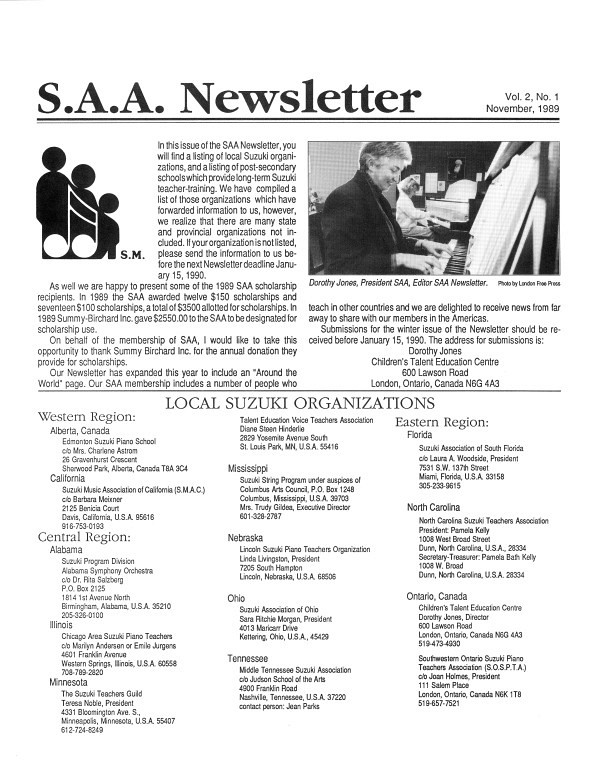 SAA Newsletter volume 2.1.
