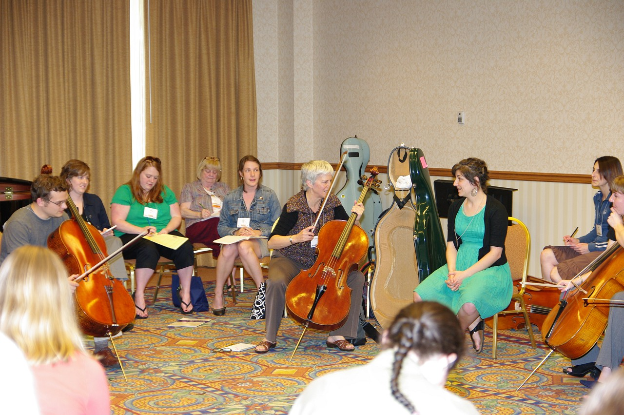 Cello session at the 2010 Conference
