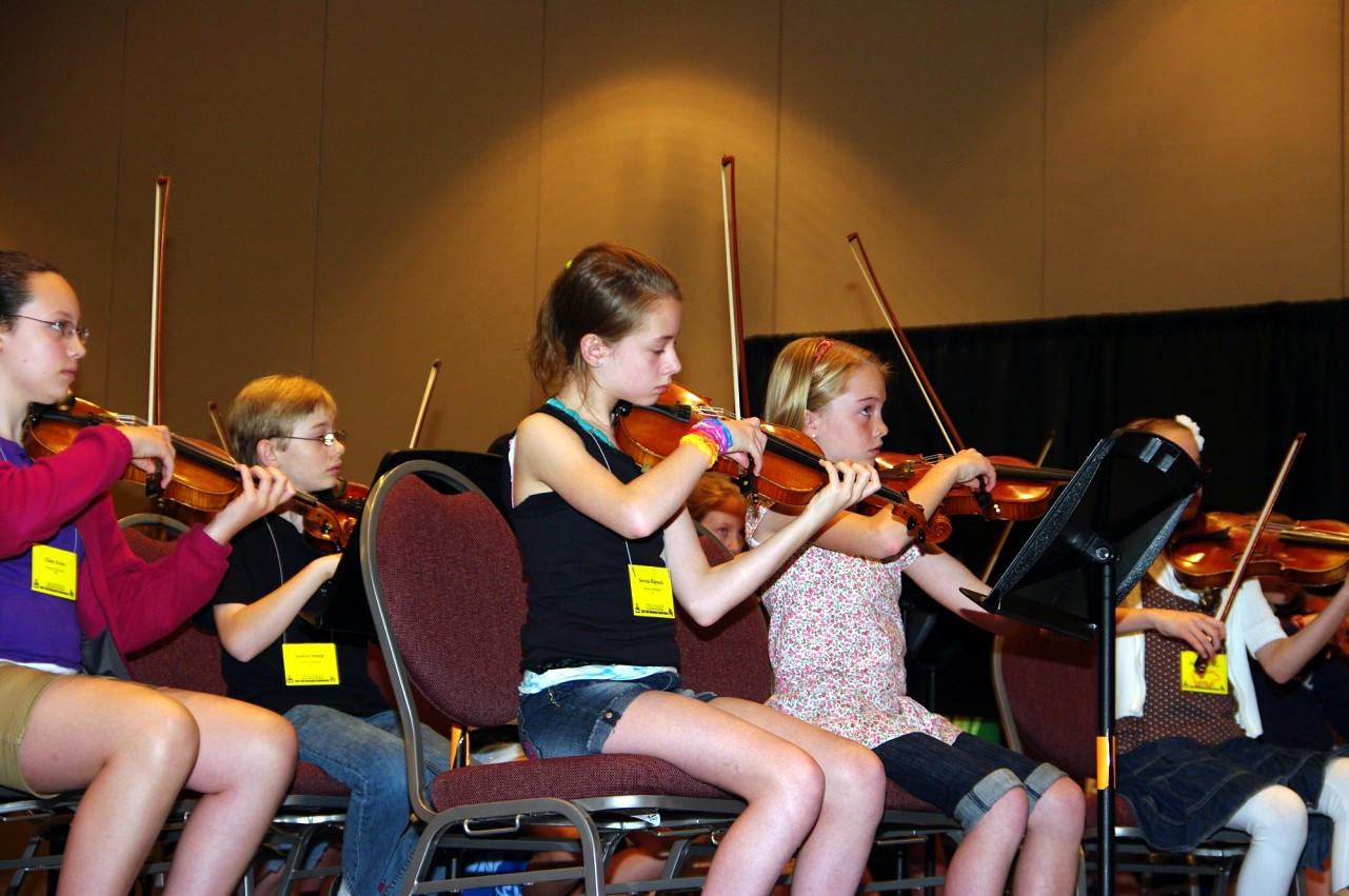 SYOA rehearsal at the 2010 Conference