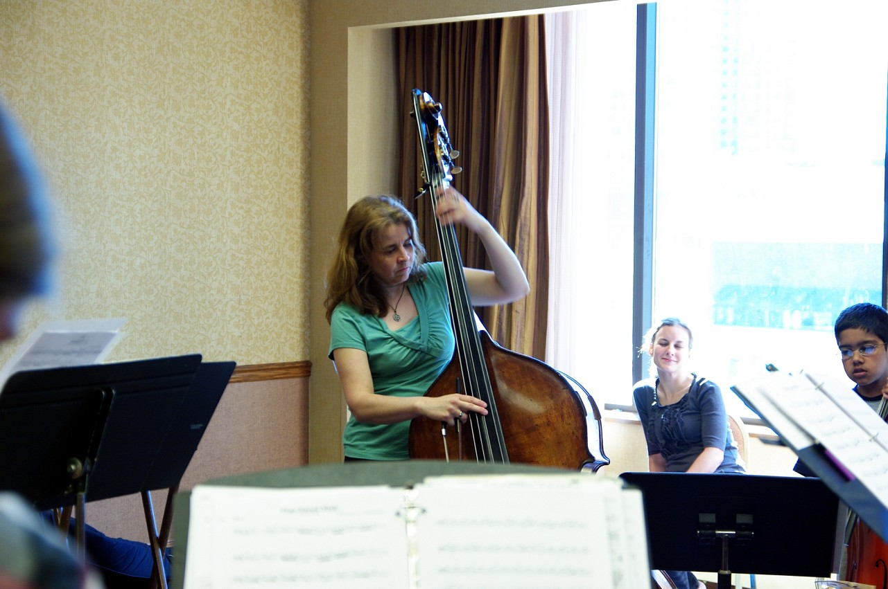 Bass Choir rehearsal at the 2010 Conference