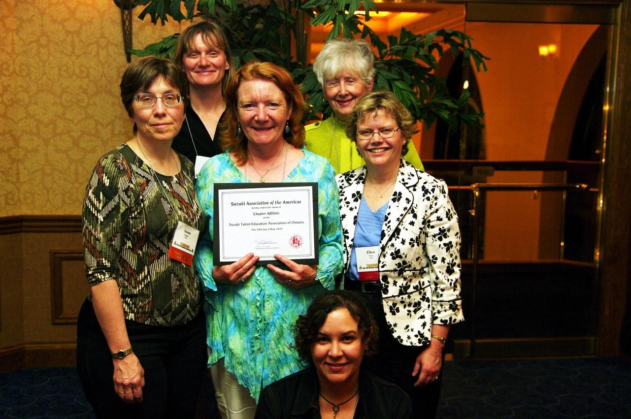 Suzuki Association of Ontario, the newest SAA Chapter Affiliate