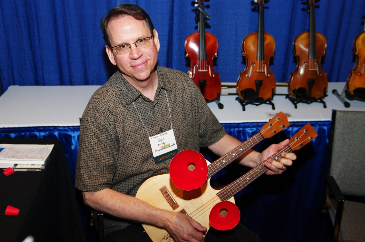 Gary Bartig of G. Edward Lutherie in the exhibits area of the 2010 Conference