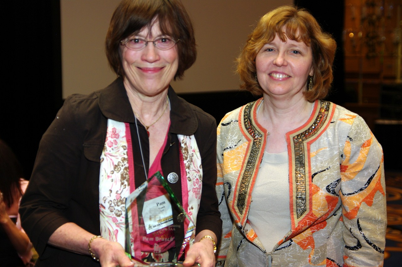 Pam Brasch, CLC Award recipient, and Carol Ourada at the 2010 Conference