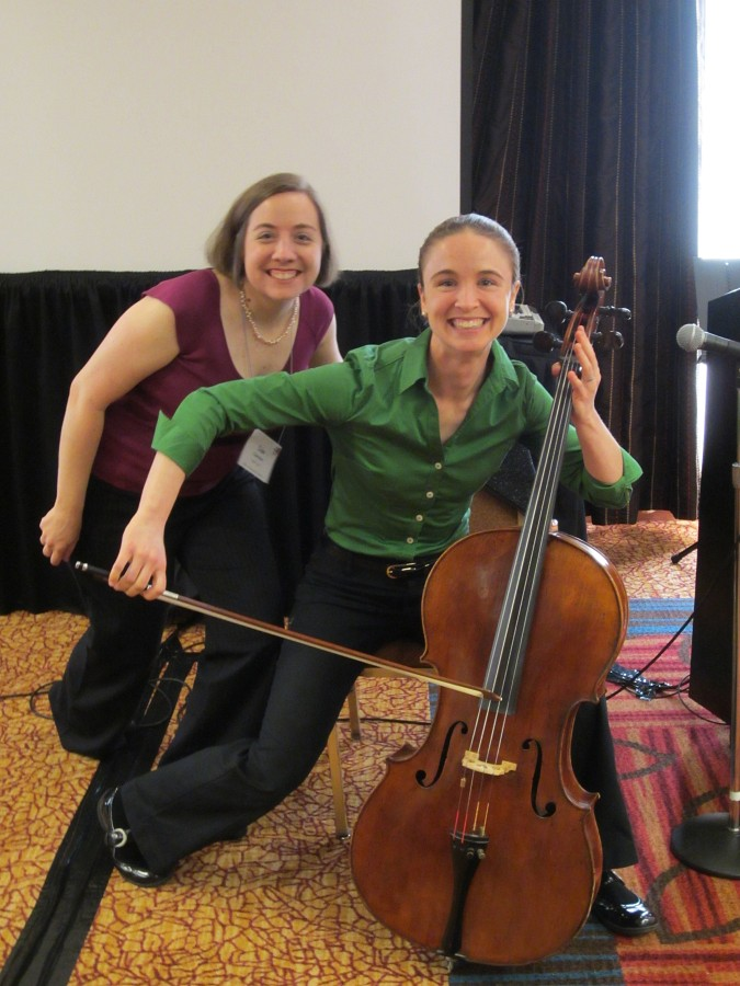 Lisa Caravan and Abigail McHugh at the 2012 Conference