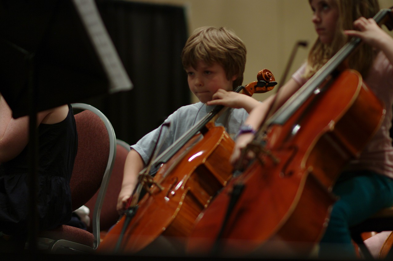 SYOA cellists in rehearsal at the 2012 conference