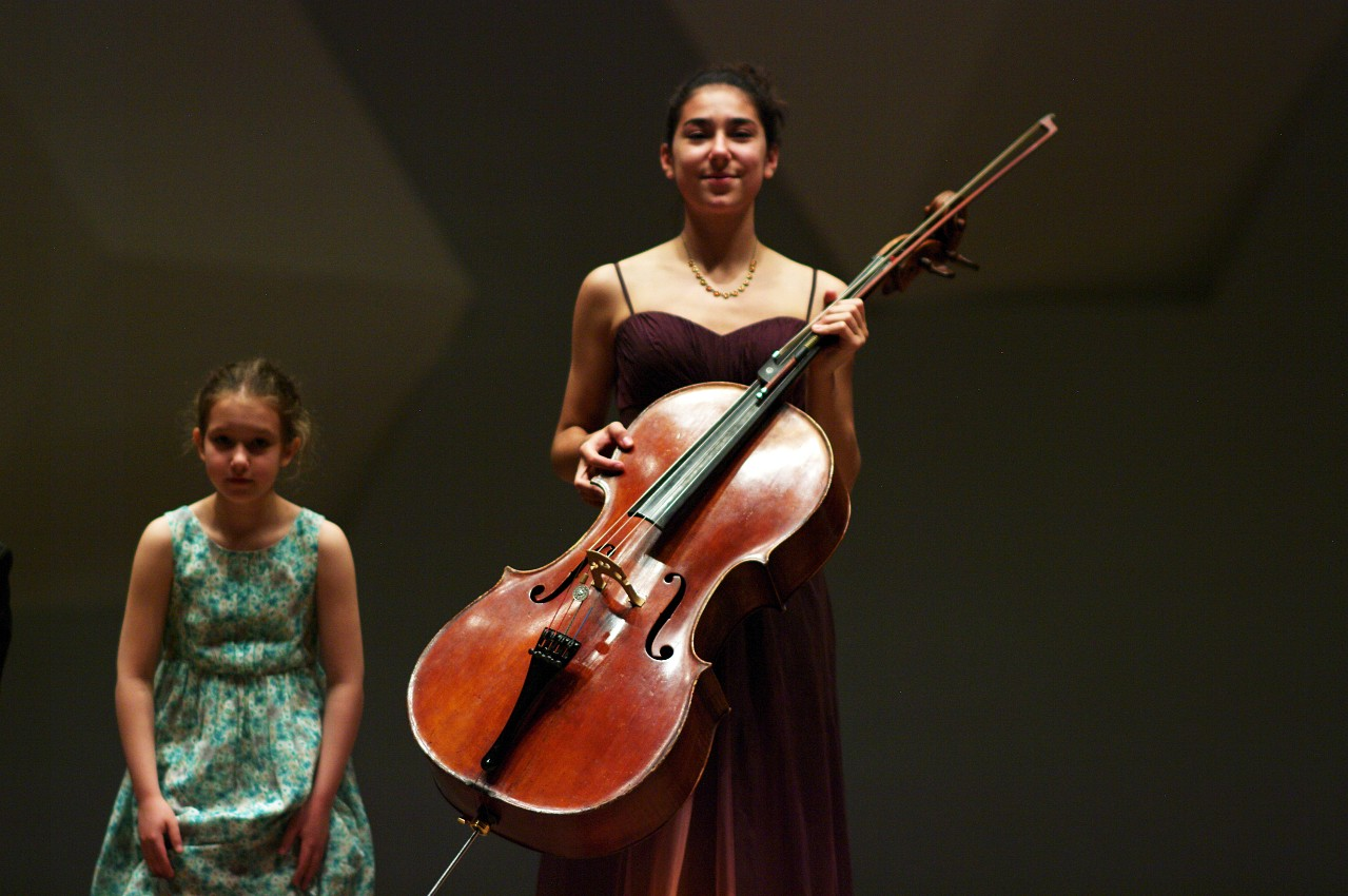 Ida Beckett and Lucie Ticho take a bow in the Kaleidoscope Concert