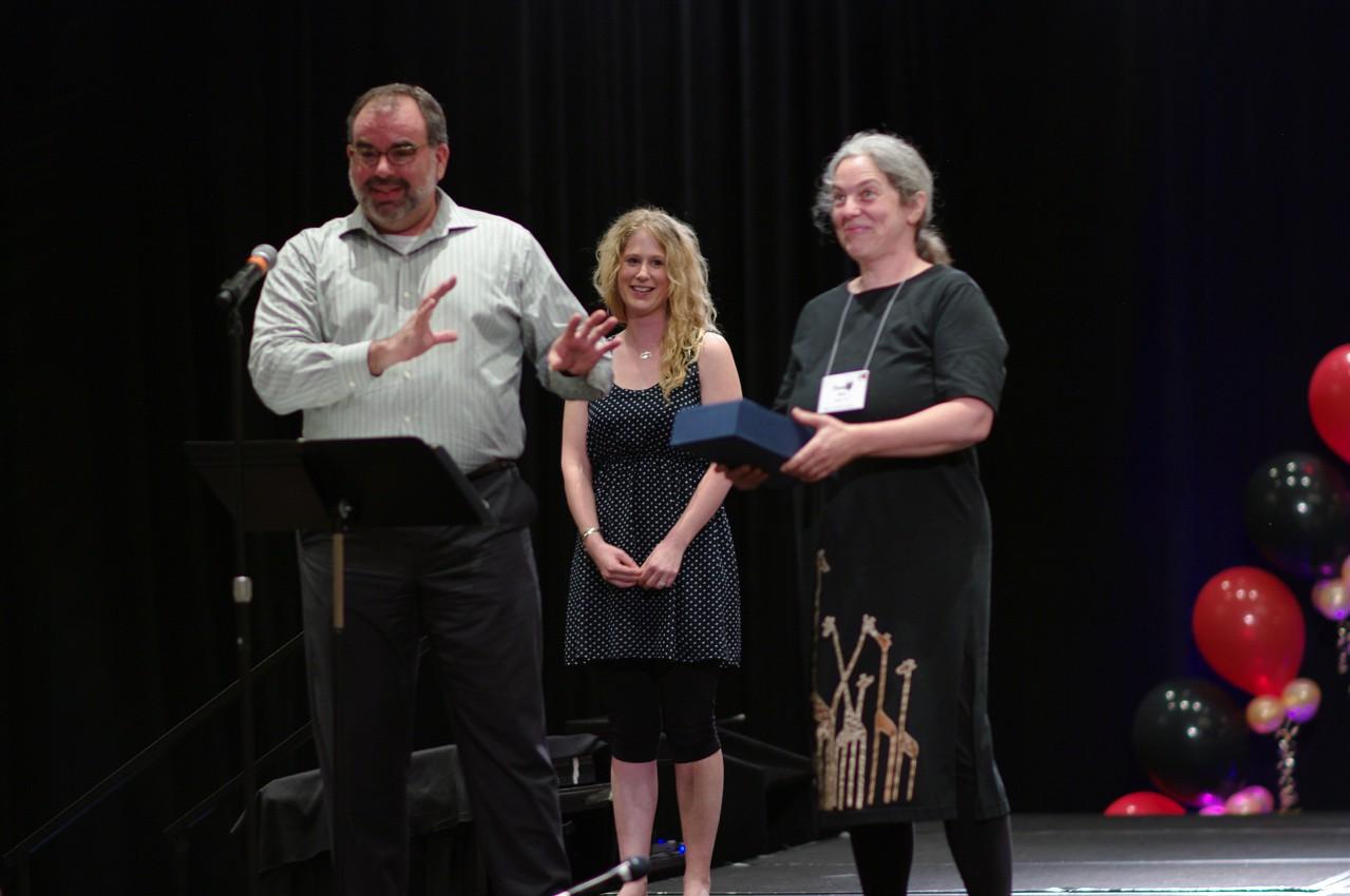 Pamela Reit receives a Creating Learning Community award