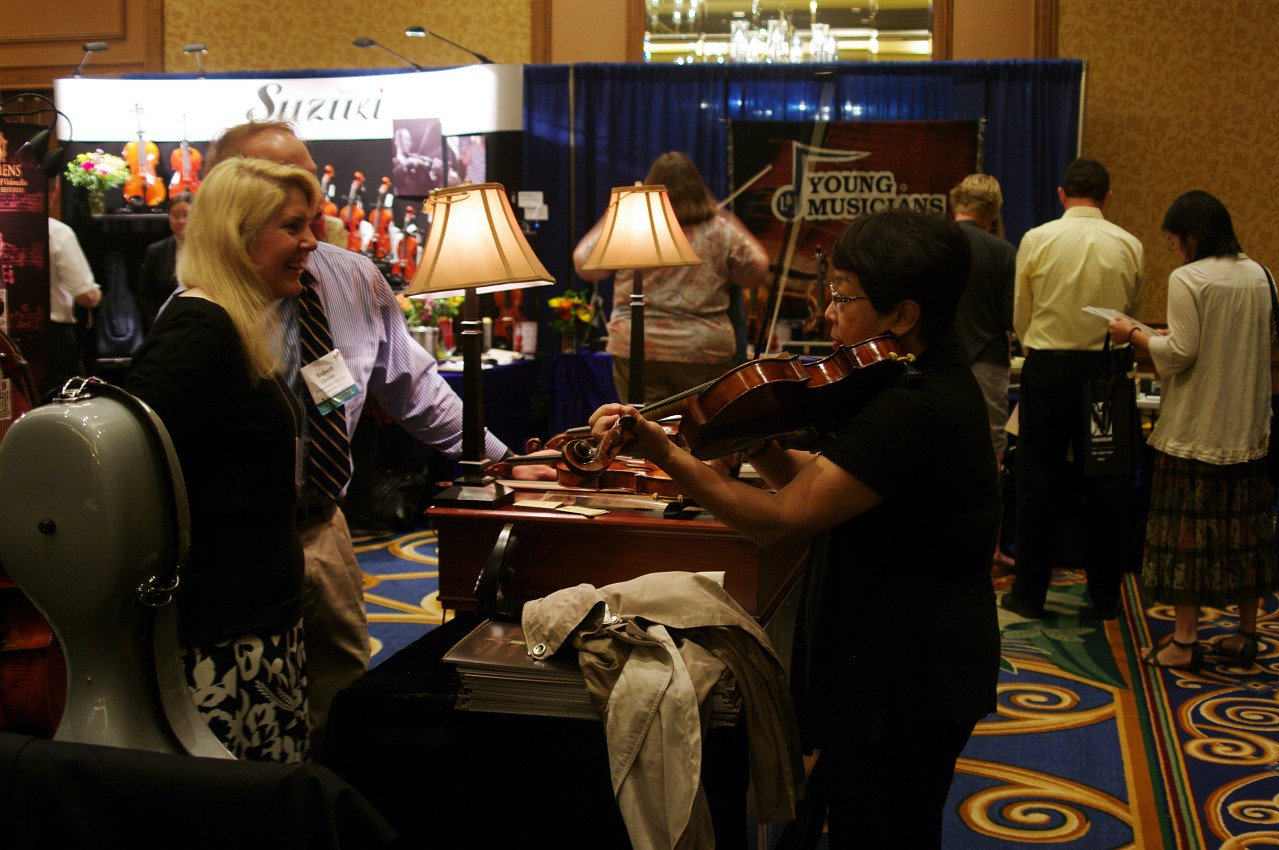 Exhibit hall at the 2012 conference