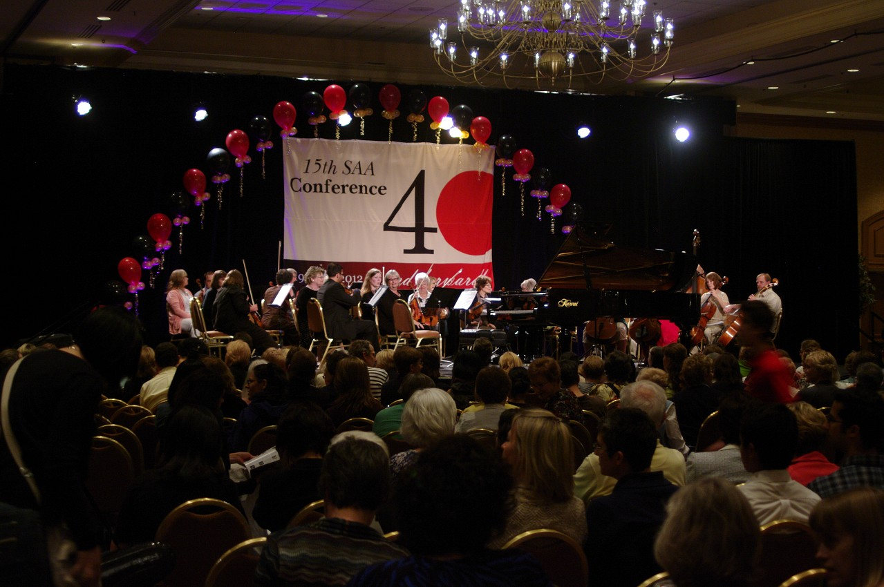 The stage is set for the piano concerto at the 2012 conference