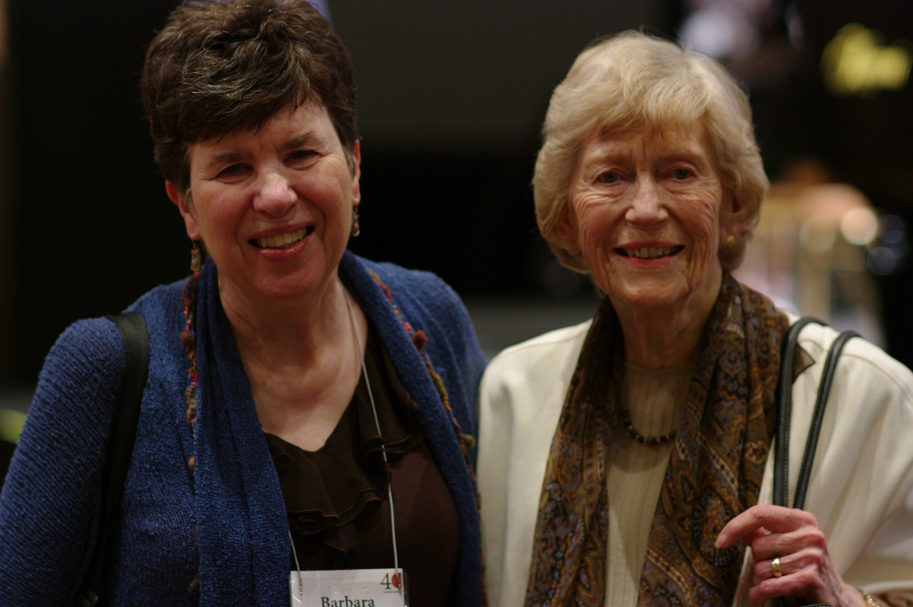 Barbara Wampner and Constance Starr at the 2012 conference