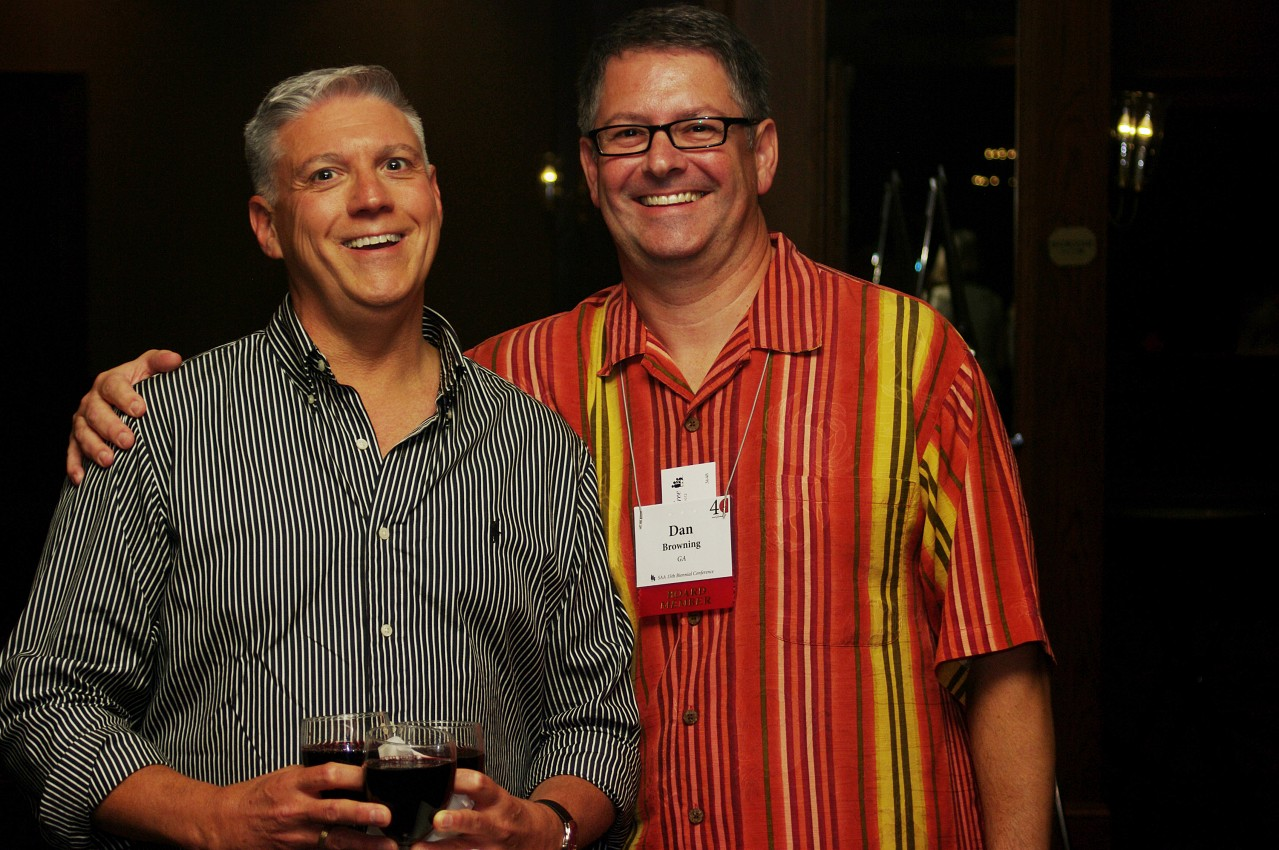 Ed Kreitman and Dan Browning at the 2012 conference