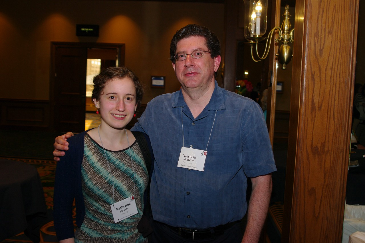 Katherine Liccardo and Christopher Liccardo at the 2012 Conference