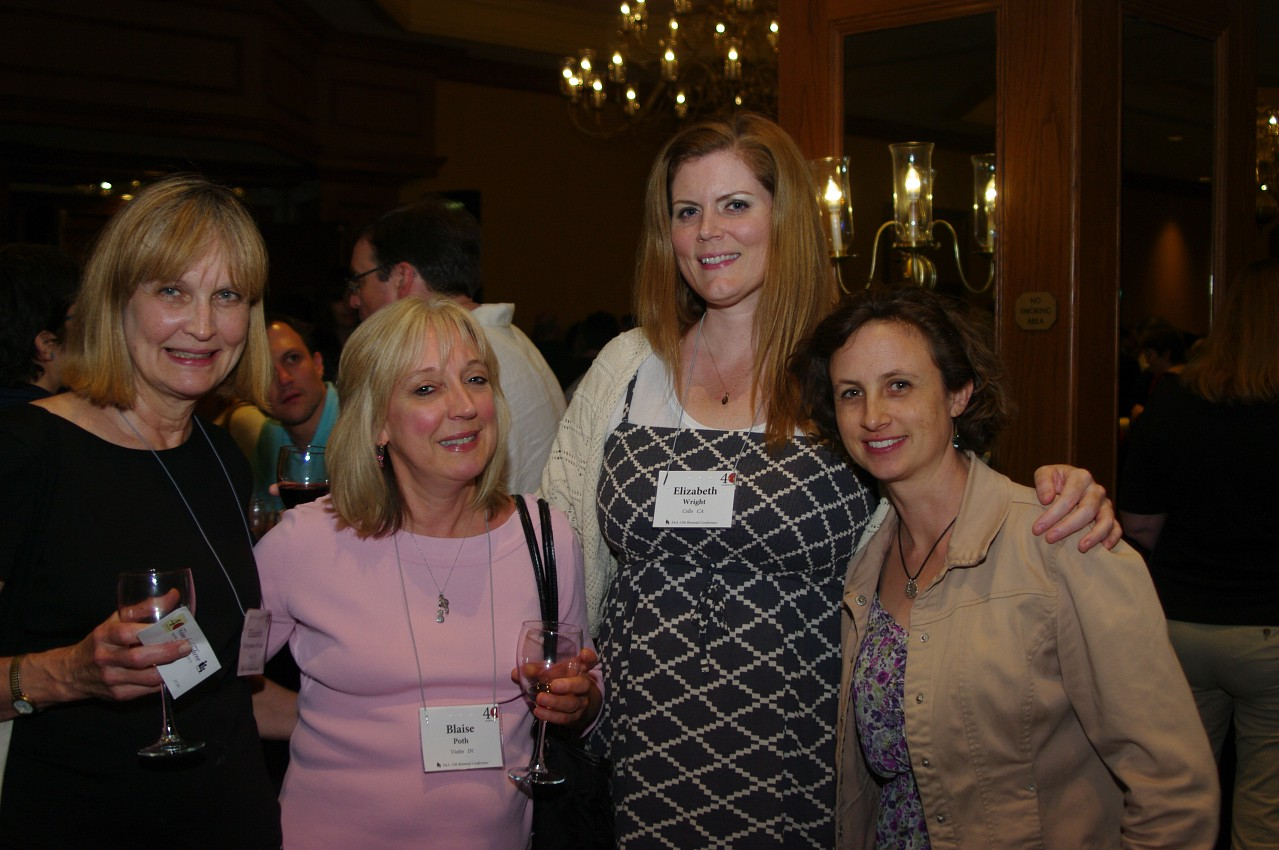 Blaise Poth, Elizabeth Wright and friends at the 2012 conference