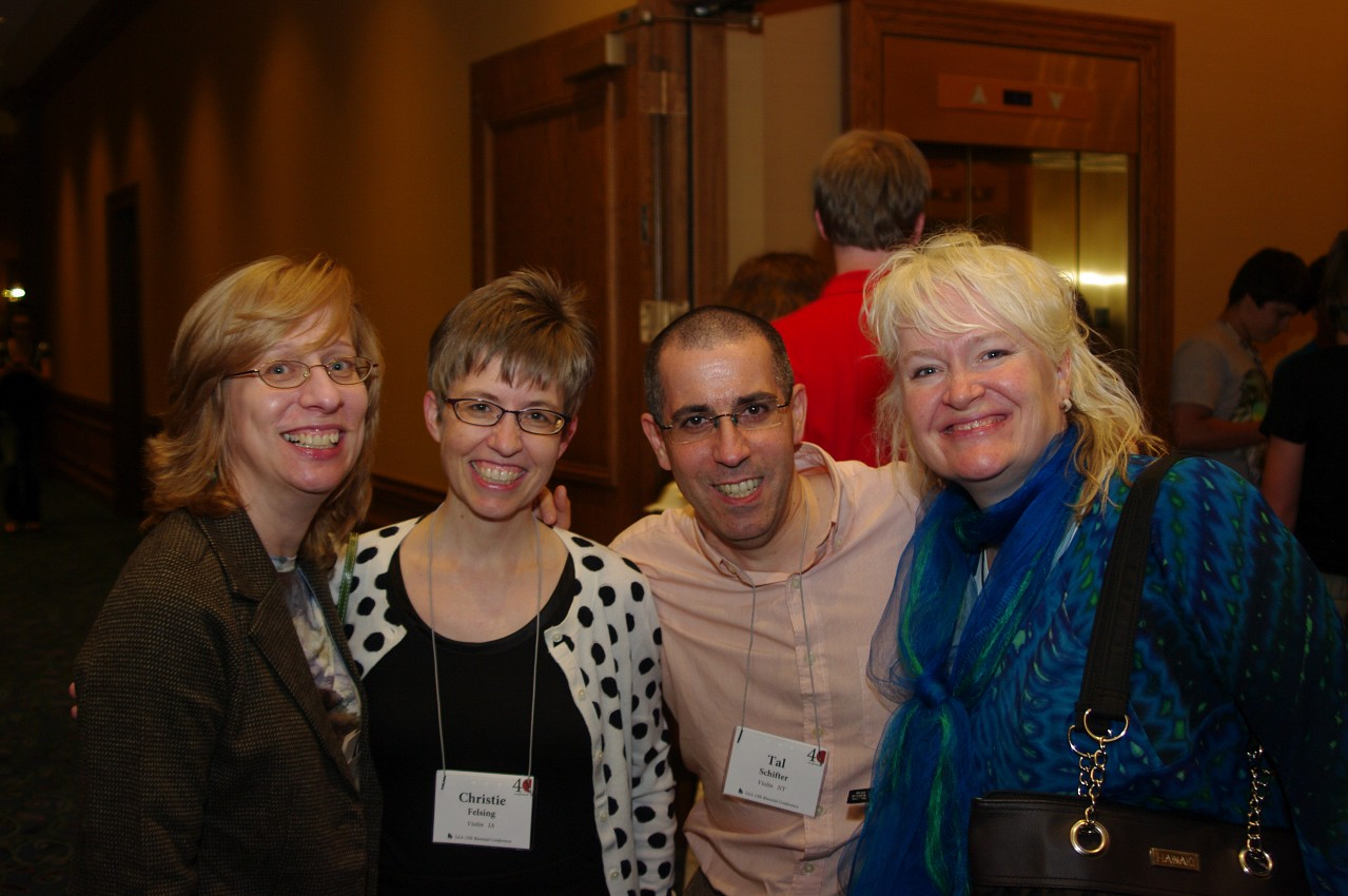 Christie Felsing, Tal Schifter and friends at the 2012 conference
