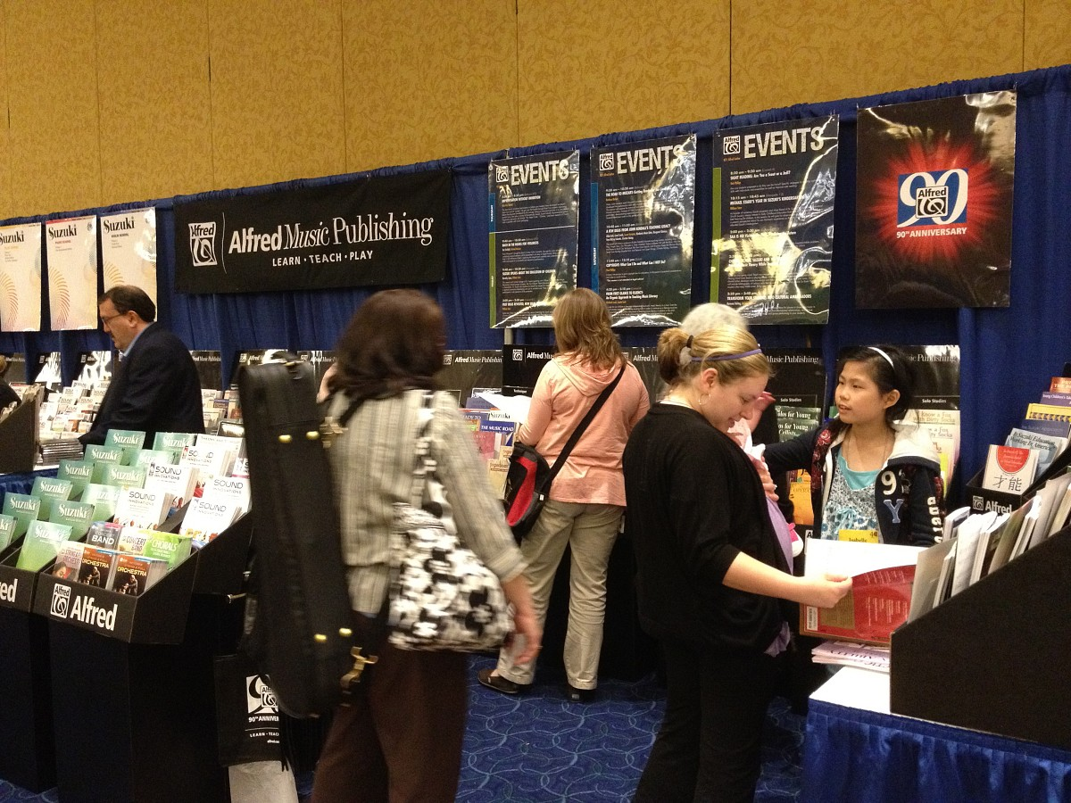 Alfred Music Publishing exhibit booth at the 2012 Conference