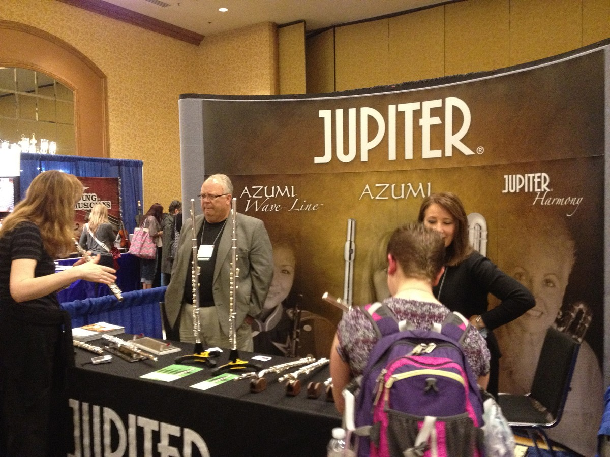 Azumi & Jupiter Flutes exhibit booth at the 2012 Conference