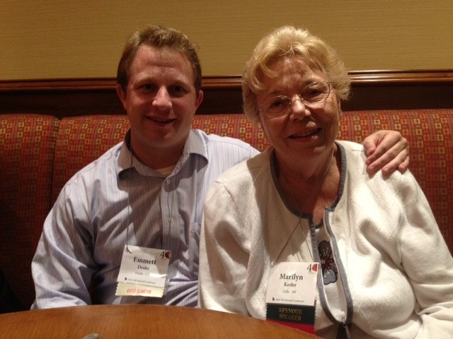 Emmett Drake and Marilyn Kesler at the 2012 SAA Conference