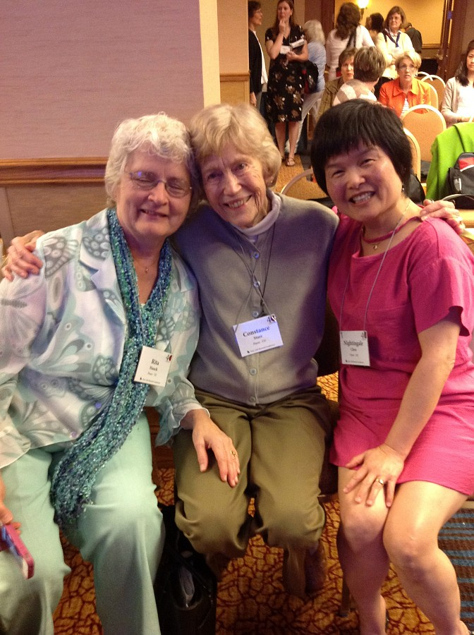 Rita Hauck, Constance Starr, and Nightingale Chen at the 2012 Conference