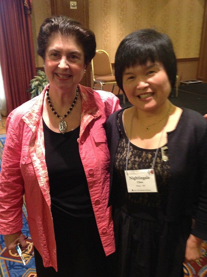 Ann Schein and Nightingale Chen at the 2012 SAA Conference