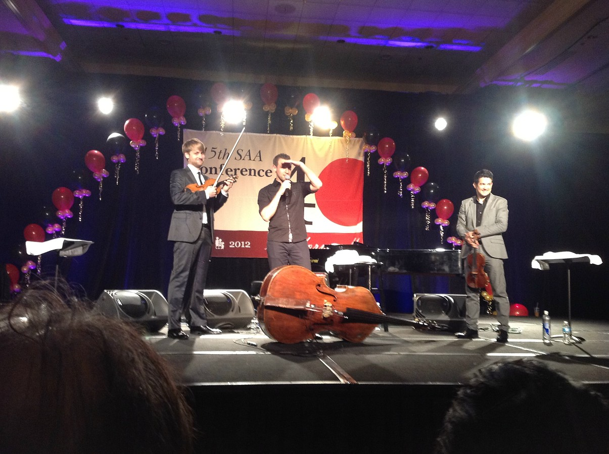 Time for Three perform at the 2012 SAA Conference