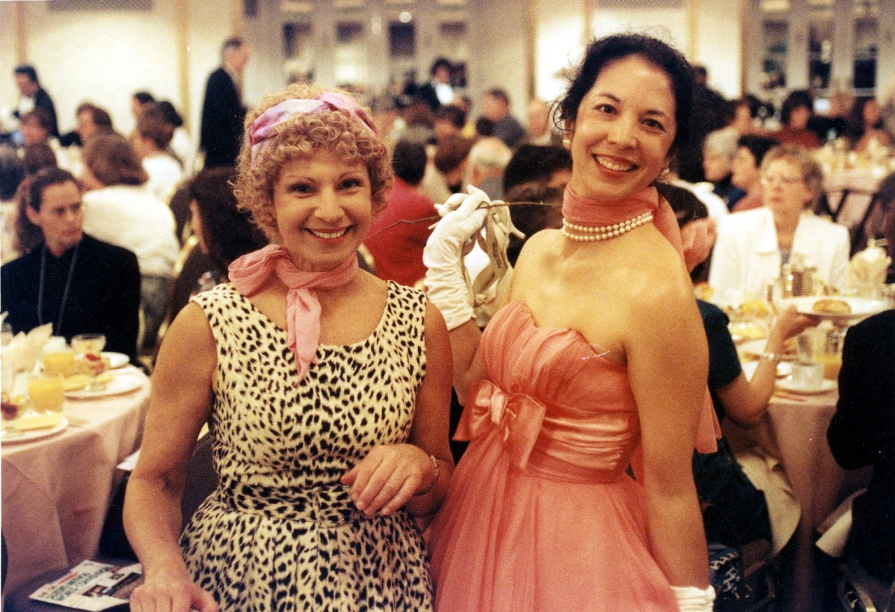 Nehama Patkin and Michiko Yurko at the 1998 SAA Conference