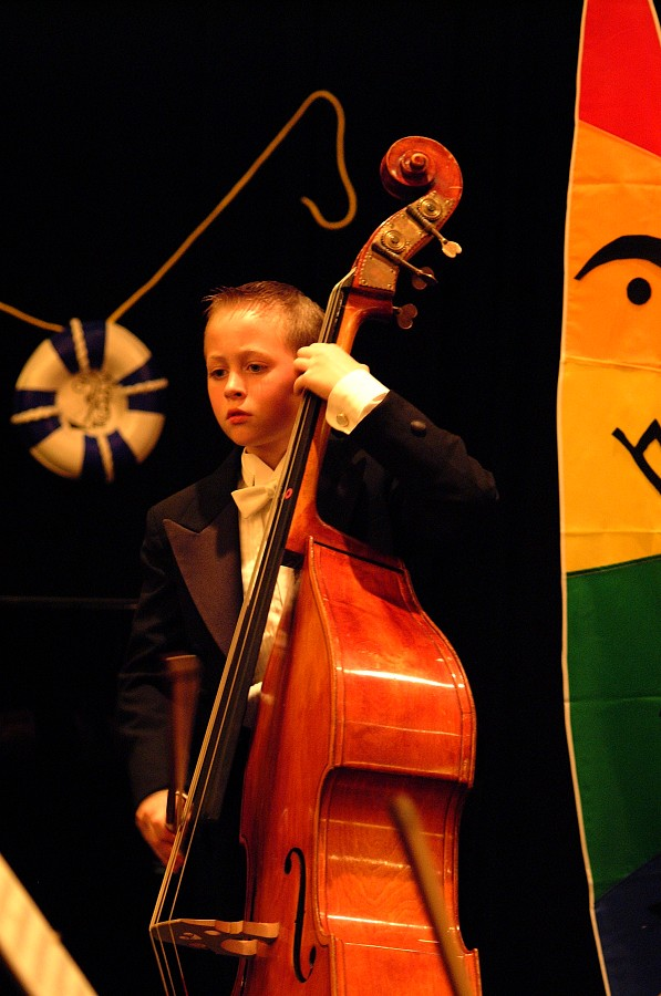 Bass student performs with the SYOA the 2002 SAA Conference