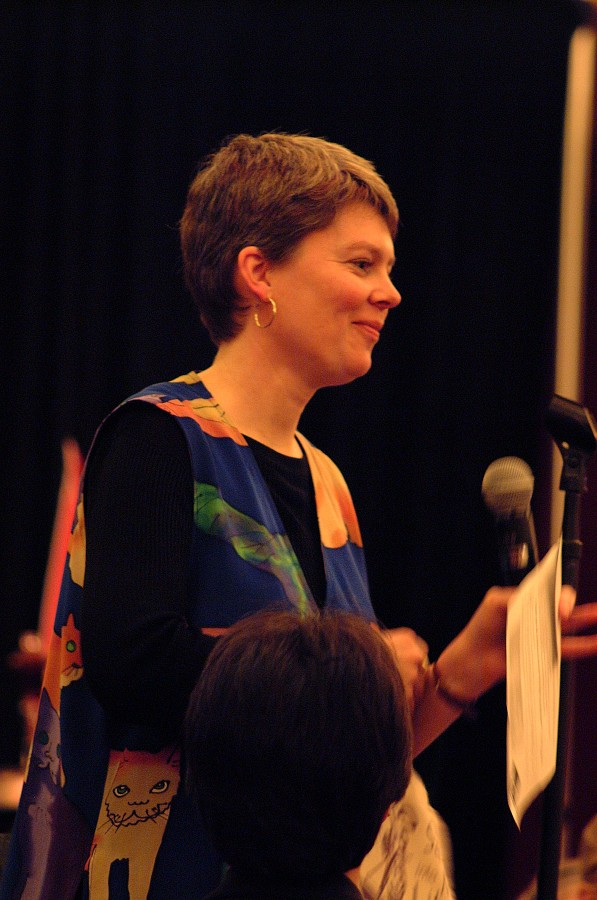 Carrie Reuning-HUmmel at the 2002 SAA Conference