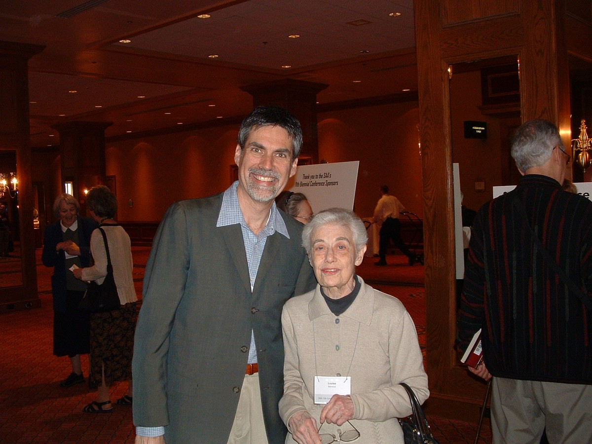 Allen Lieb and Louis Behrend at the 2004 SAA Conference