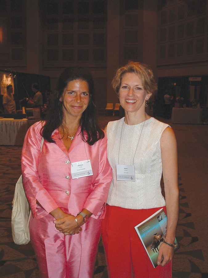 Pamela Frank and Karen Phelan, SAA staff member, at the 2004 SAA Conference