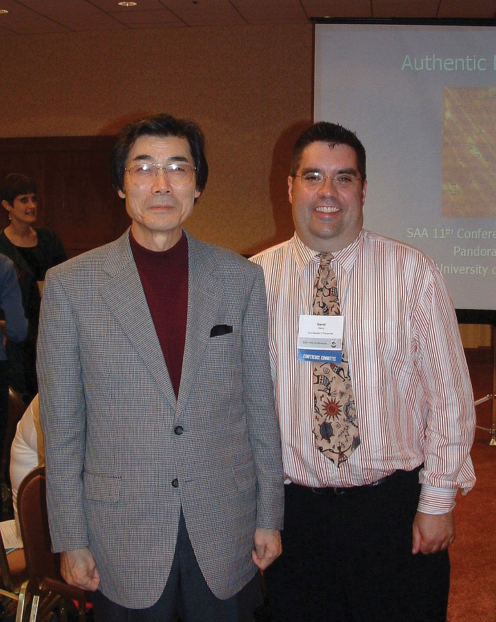 Toshio Takahashi and David Gerry at the 2004 SAA Conference