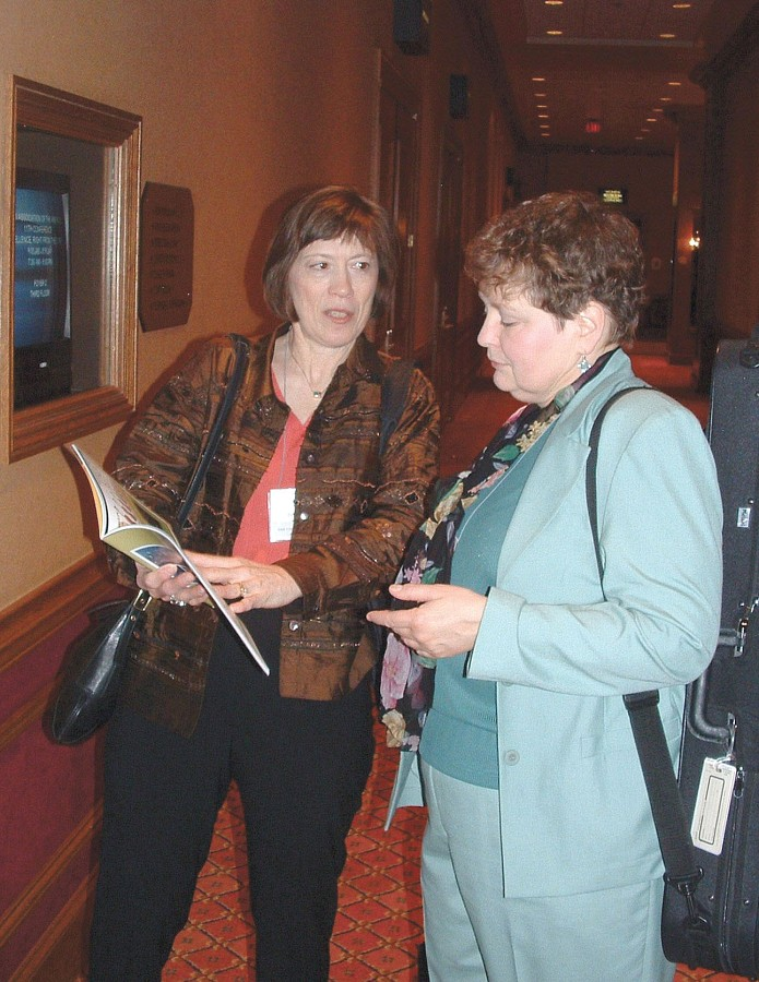 Pam Brasch at the 2004 SAA Conference