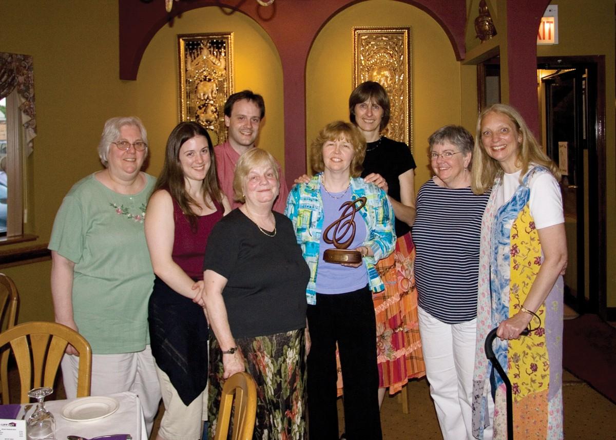 Gilda Barston, Carla Brasch, Blake Brasch, Carol Tarr, Carol Ourada, Nancy Hair, Dee Martz, and Carol Waldvogel