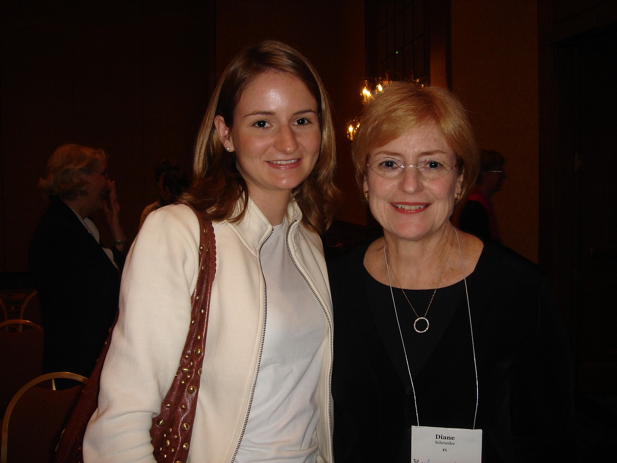 Susan Fuller and Diane Schroeder at the 2006 SAA Conference