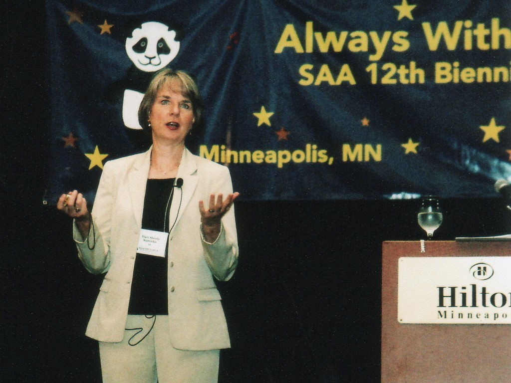 Mary Sheedy Kurcinka, keynote speaker at the 2006 SAA Conference