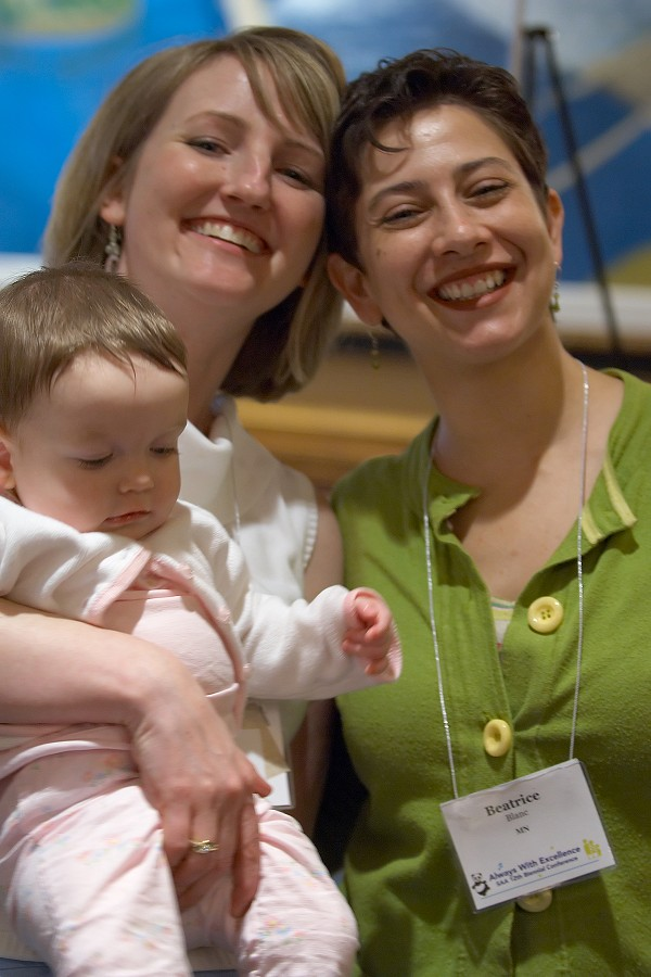 Beatrice Blanc and friend with baby at the 2006 SAA Conference