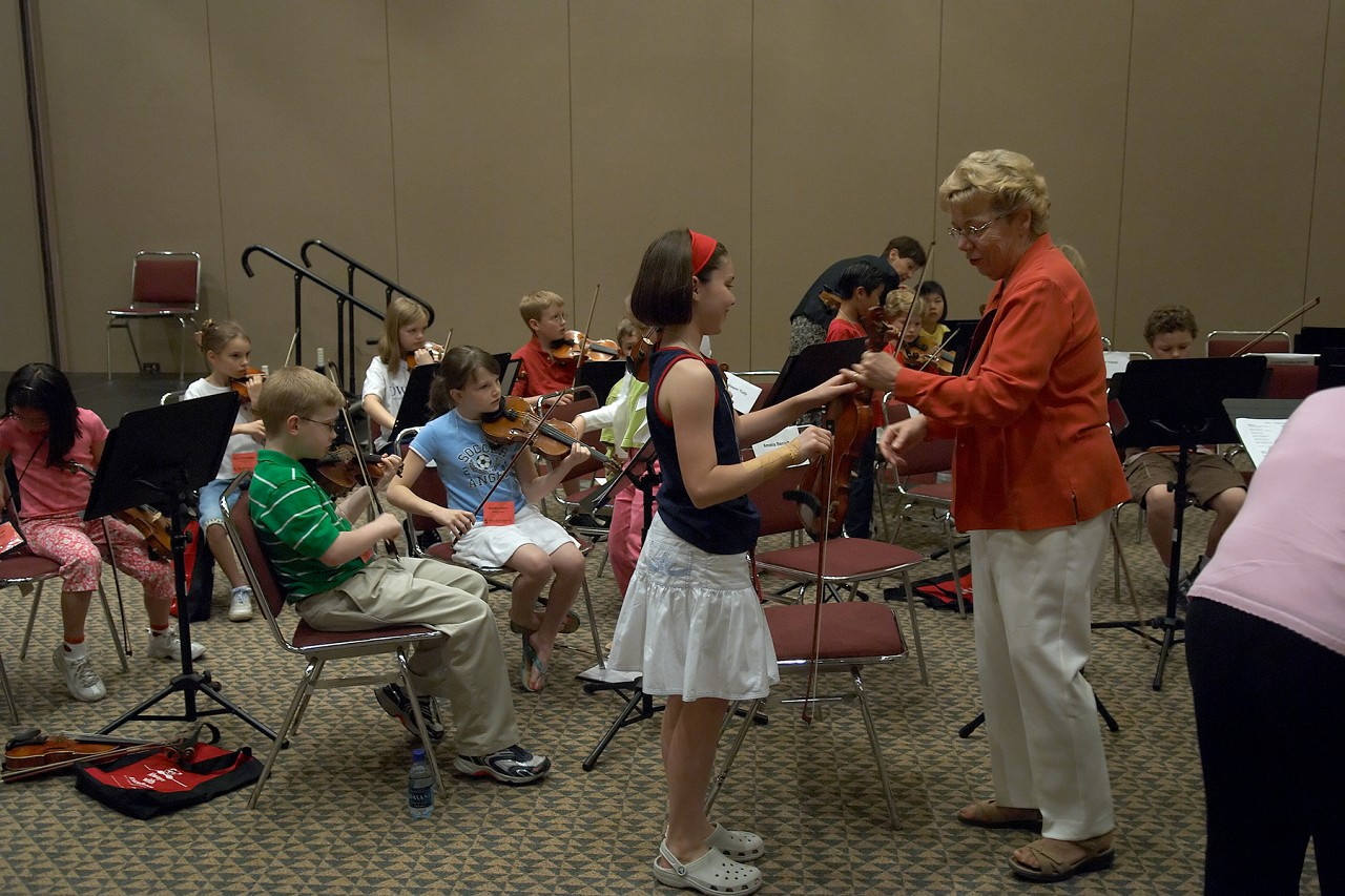 SYOA rehearsal with Marilyn Kesler at the 2006 SAA Conference