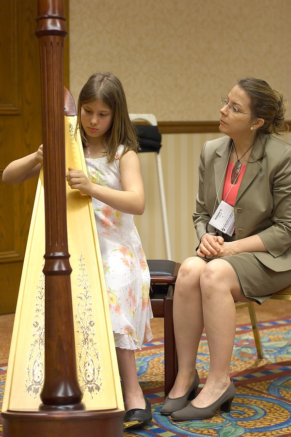 Harp masterclass with Delaine Fedson at the 2006 SAA Conference