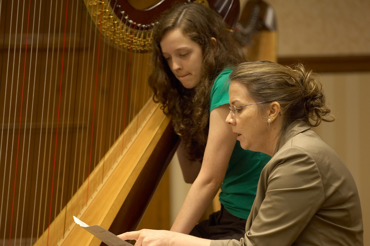 Delaine Fedson gives a harp masterclass at the 2006 SAA Conference
