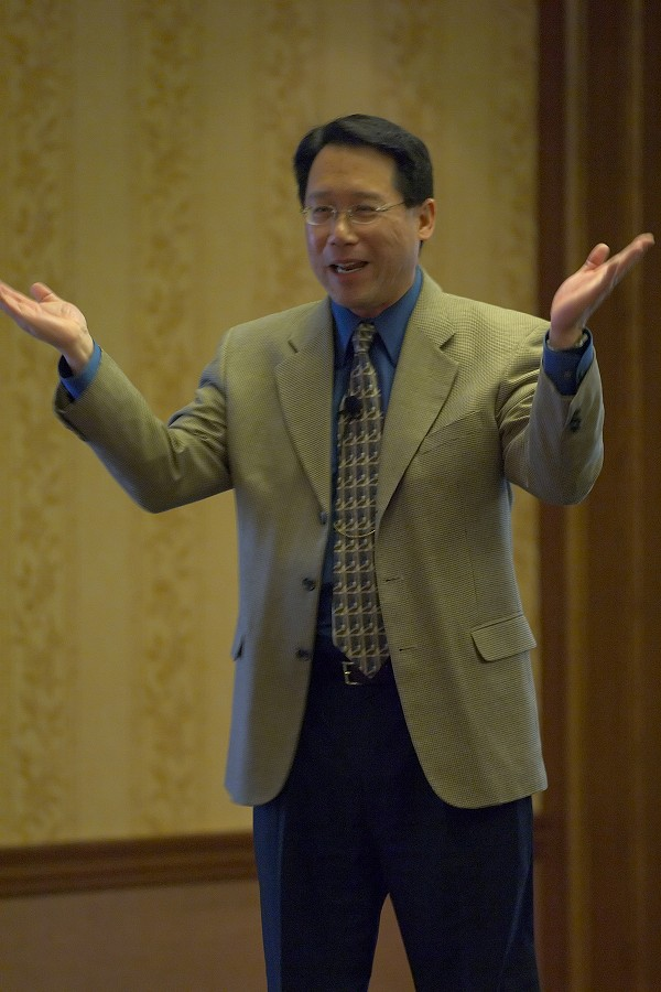 Keynote speaker Brian Chung at the 2006 SAA Conference